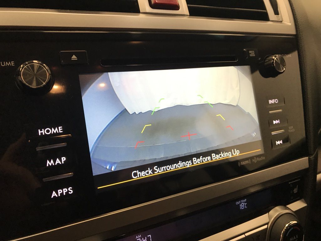 Blue 2015 Subaru Outback Central Dash Options Photo in Lethbridge AB