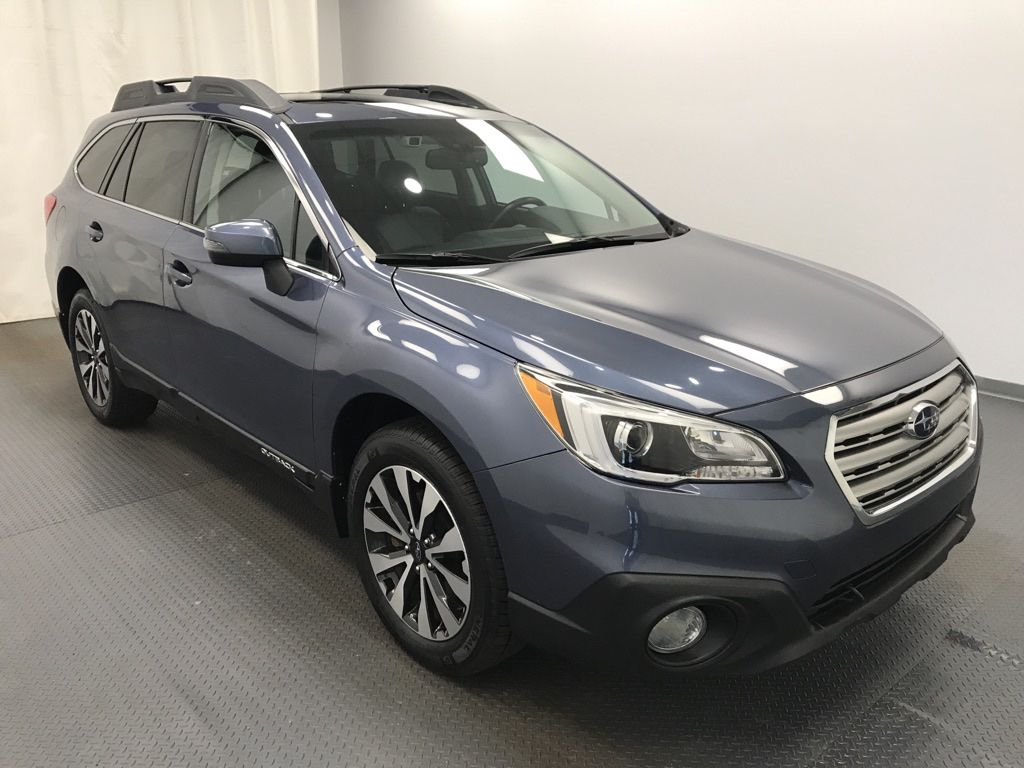 Blue 2015 Subaru Outback Left Front Head Light / Bumper and Grill in Lethbridge AB