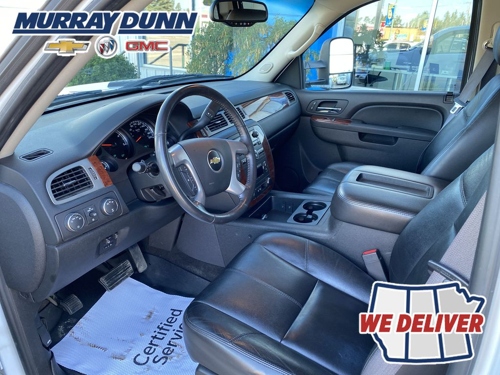 White[Summit White] 2011 Chevrolet Silverado 2500HD Left Front Interior Photo in Nipawin SK