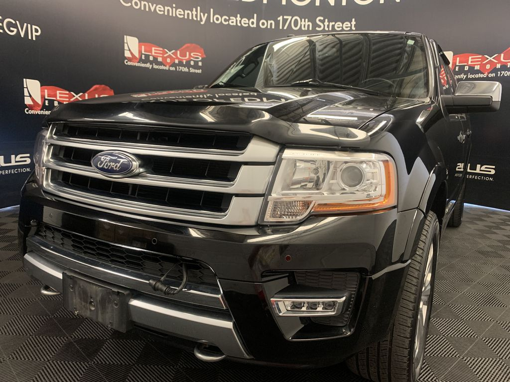 Black[Shadow Black] 2017 Ford Expedition Max Left Front Head Light / Bumper and Grill in Edmonton AB