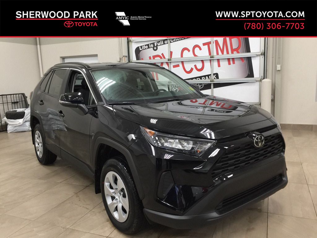 Black[Midnight Black Metallic] 2020 Toyota RAV4 LE AWD