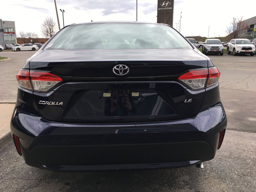 08X8 BLUEPRINT 2020 Toyota Corolla LE Standard Package BPRBLC AM Rear of Vehicle Photo in Brampton ON