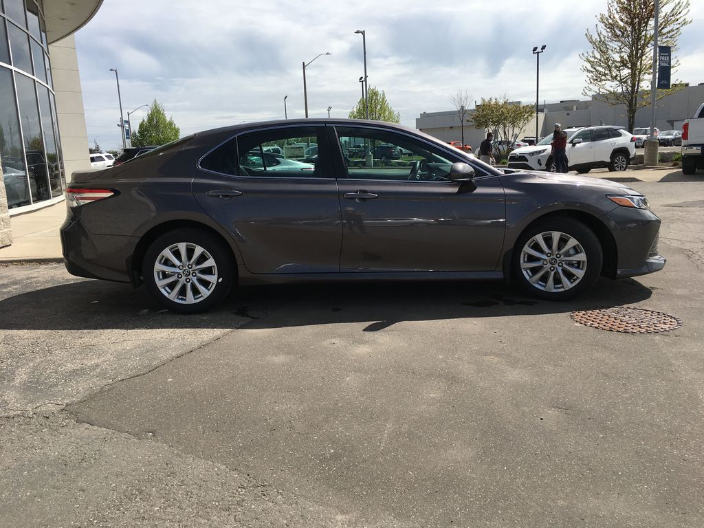 Gray[Pre-Dawn Grey Mica] 2020 Toyota Camry LE Standard Package B11HLT AM Right Side Photo in Brampton ON