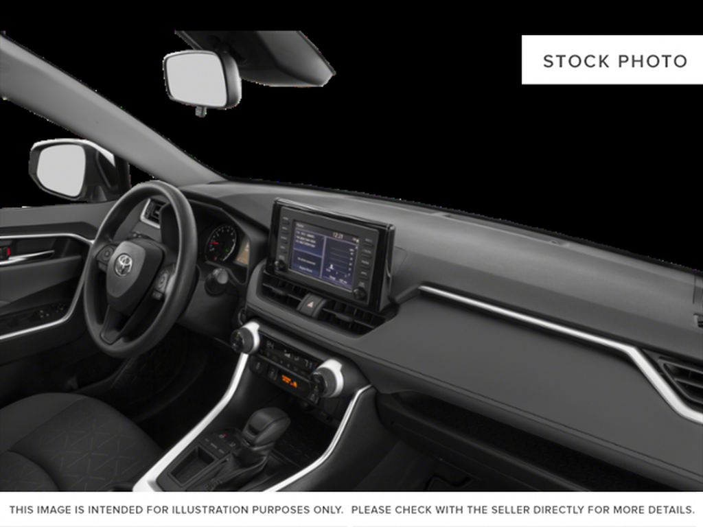 Red[Ruby Flare Pearl] 2020 Toyota RAV4 Steering Wheel and Dash Photo in Brockville ON