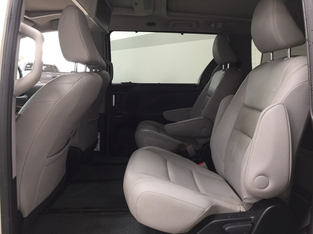 White[Blizzard Pearl] 2015 Toyota Sienna Limited AWD Left Side Rear Seat  Photo in Sherwood Park AB