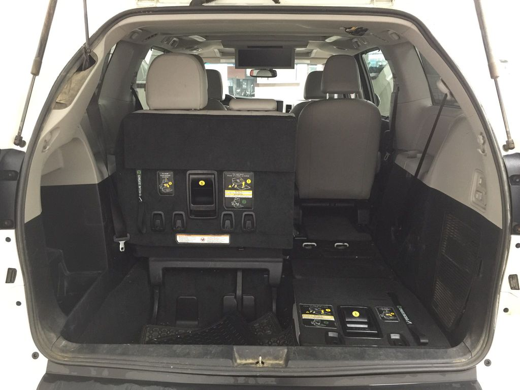 White[Blizzard Pearl] 2015 Toyota Sienna Limited AWD Cargo Area/Rear Seats Photo in Sherwood Park AB