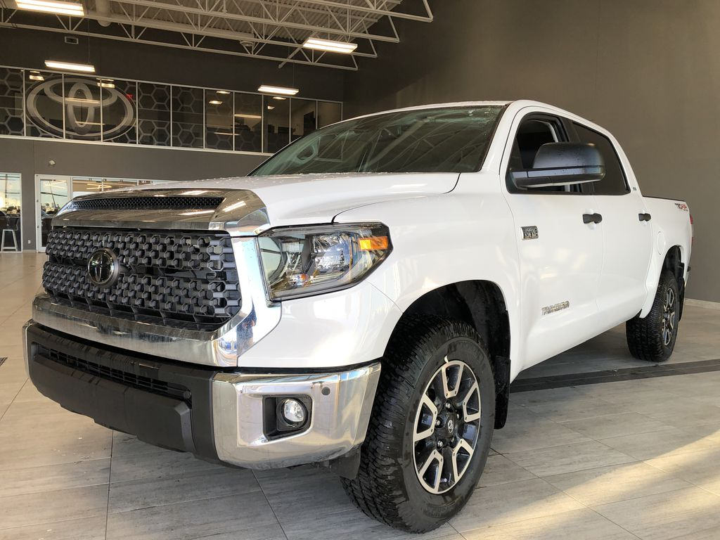 Super White 2020 Toyota Tundra 4WD Left Side Rear Seat  Photo in Edmonton AB