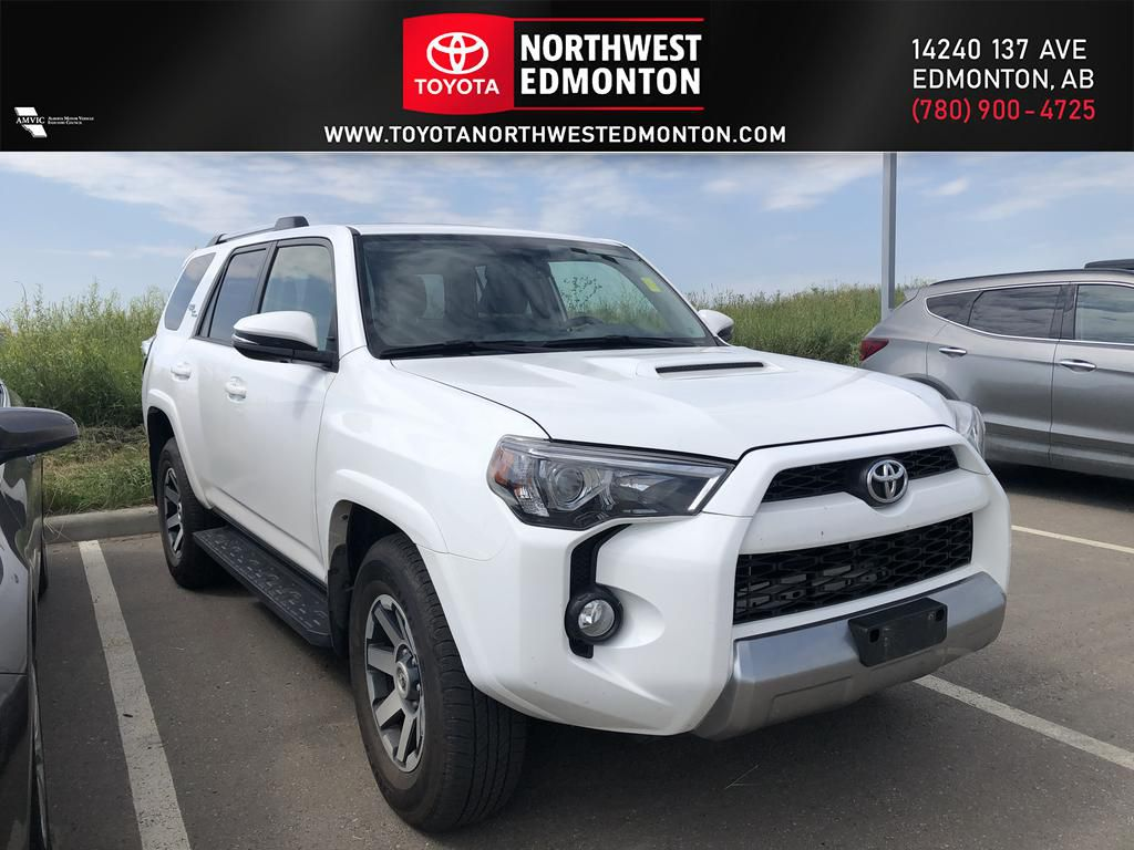 White 2018 Toyota 4Runner 4DR SUV 4WD