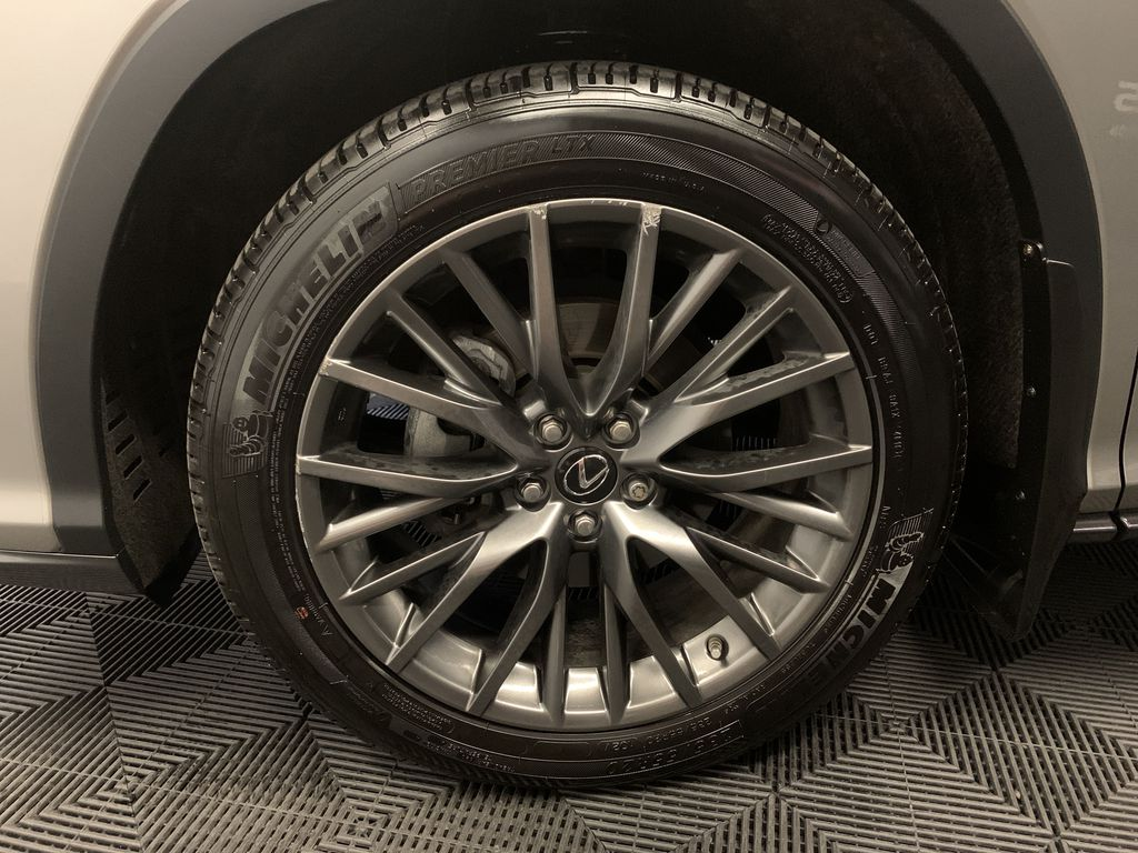 Silver[Atomic Silver] 2017 Lexus RX 350 Left Front Rim and Tire Photo in Edmonton AB