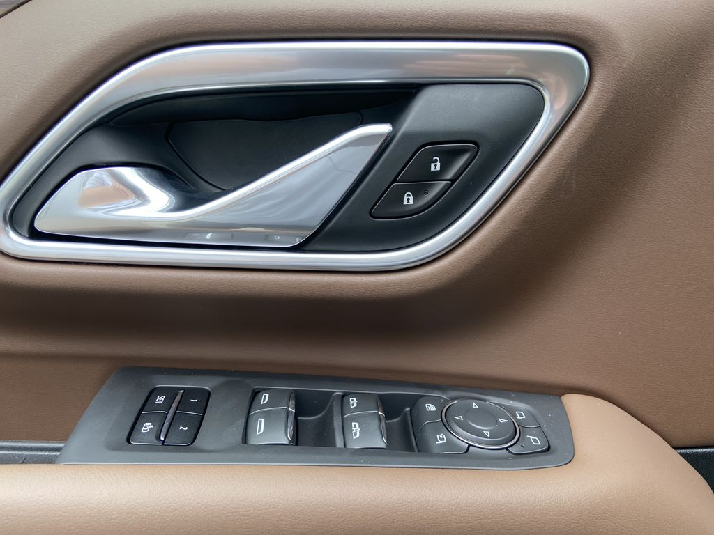 White[Iridescent Pearl Tricoat] 2021 Chevrolet Tahoe High Country  Driver's Side Door Controls Photo in Calgary AB