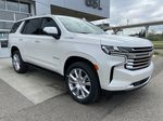 White[Iridescent Pearl Tricoat] 2021 Chevrolet Tahoe High Country Right Front Corner Photo in Calgary AB