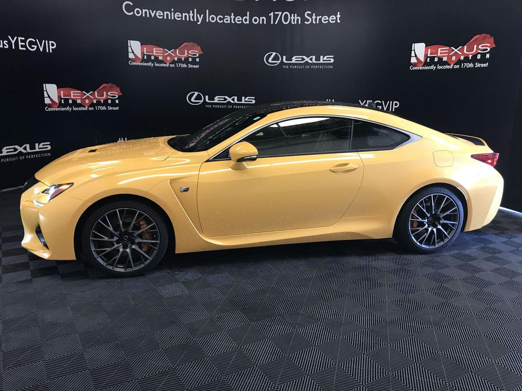 Yellow[Flare Yellow] 2019 Lexus RC F Left Front Head Light / Bumper and Grill in Edmonton AB