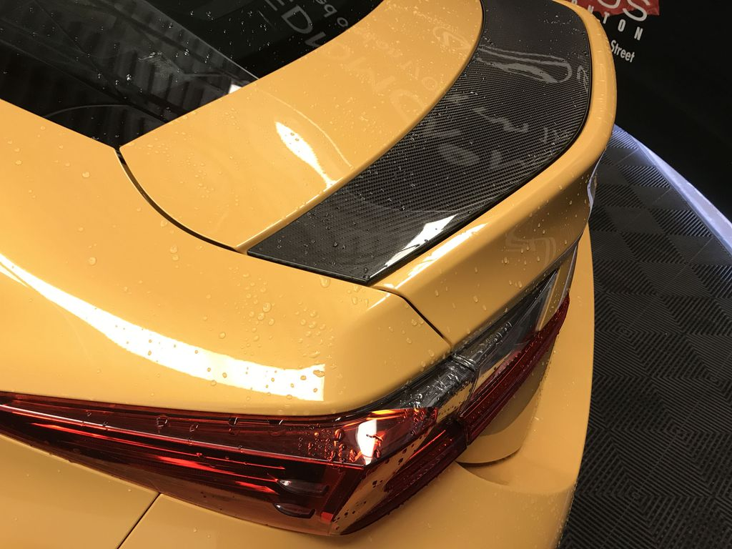Yellow[Flare Yellow] 2019 Lexus RC F Right Rear Side Body Line Photo in Edmonton AB