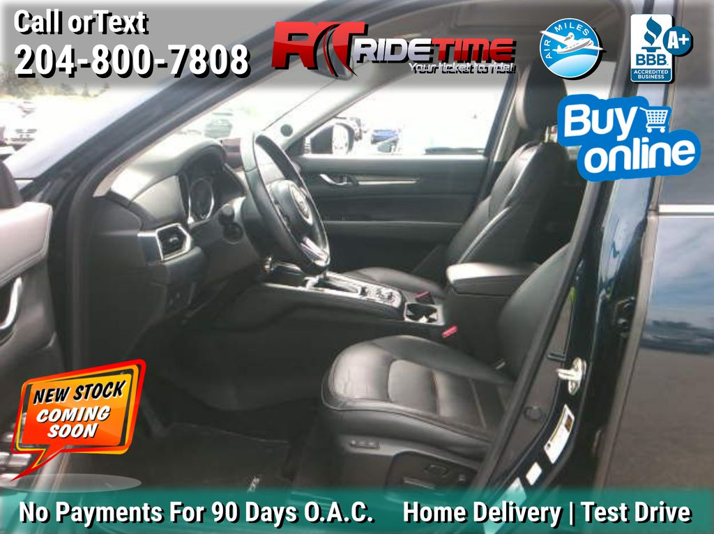 Blue[Deep Crystal Blue Mica] 2017 Mazda CX-5 GT (Grand Touring) AWD - Leather, Navigation, Sunroof Left Front Interior Photo in Winnipeg MB