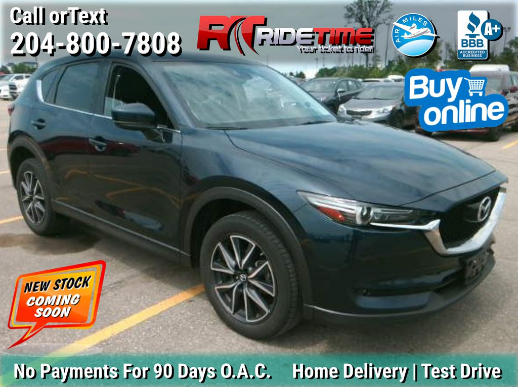Blue[Deep Crystal Blue Mica] 2017 Mazda CX-5 GT (Grand Touring) AWD - Leather, Navigation, Sunroof