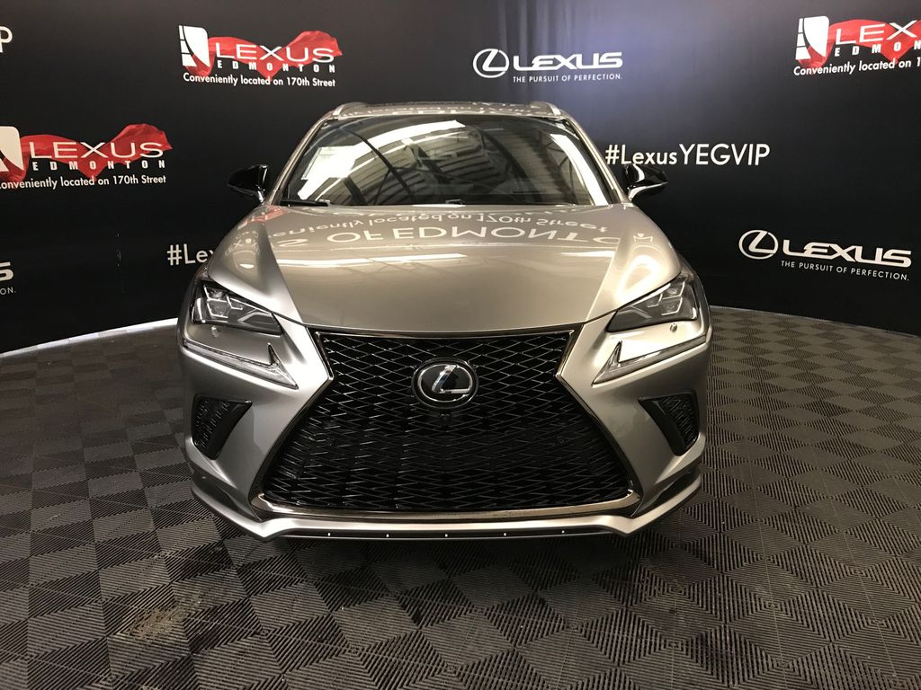 Atomic Silver 2020 LEXUS NX 300 F Sport Series 3 Front Vehicle Photo in Edmonton AB
