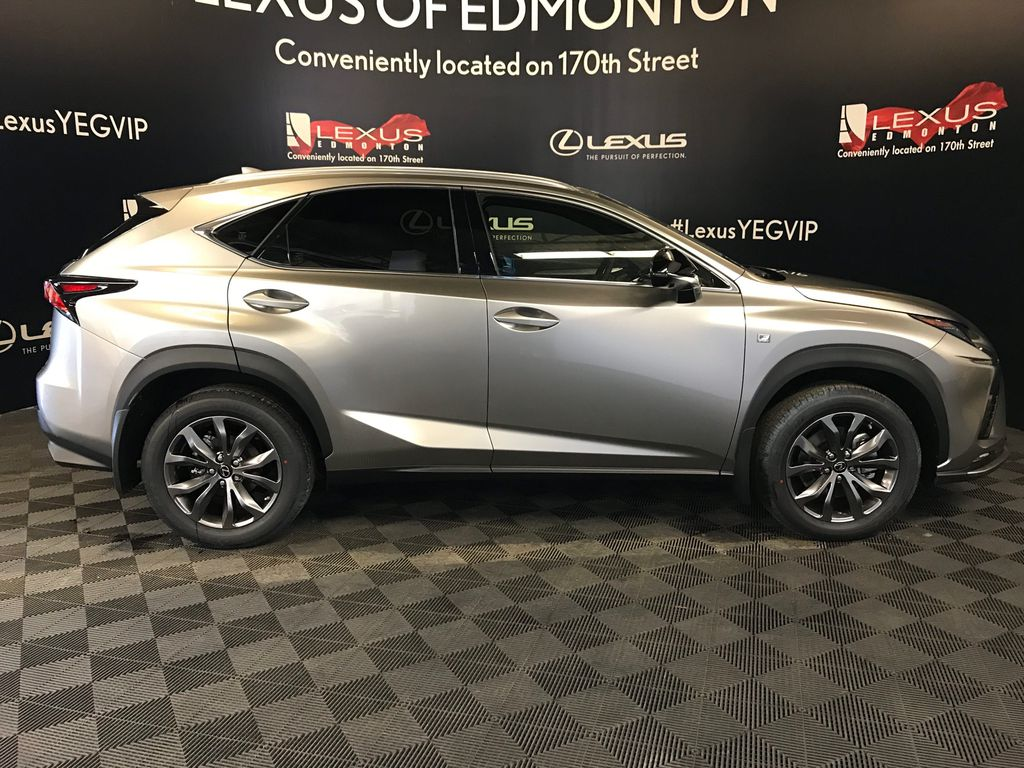 Atomic Silver 2020 LEXUS NX 300 F Sport Series 3 Right Side Photo in Edmonton AB