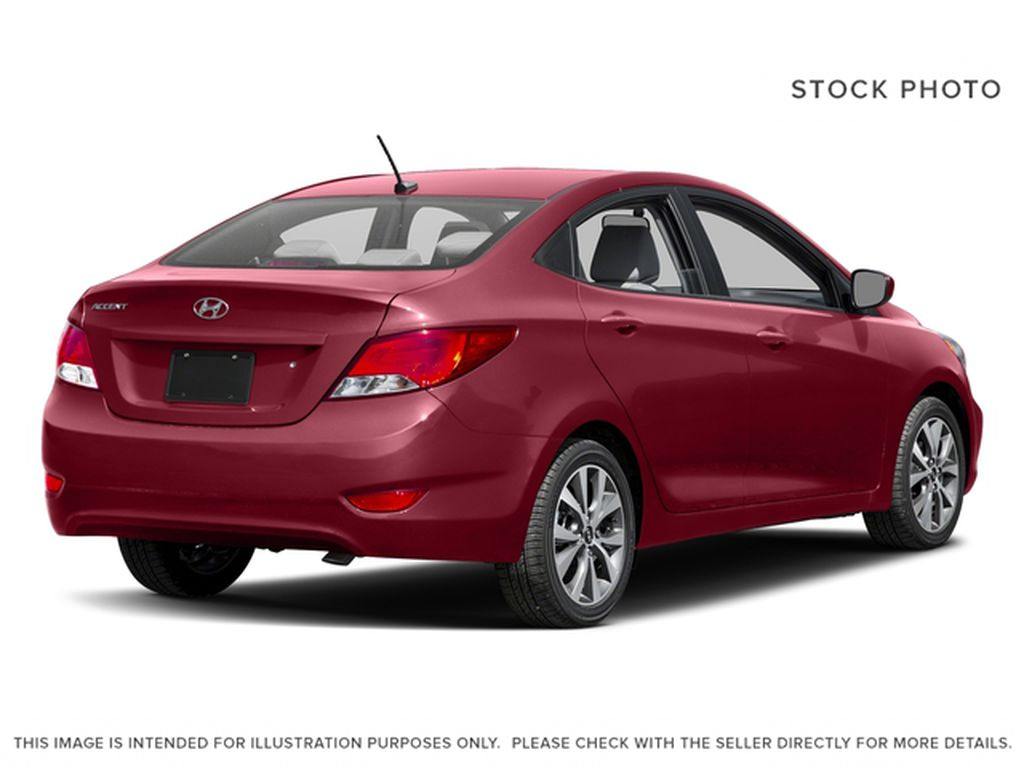Red[Boston Red Metallic] 2017 Hyundai Accent Right Rear Corner Photo in Dartmouth NS