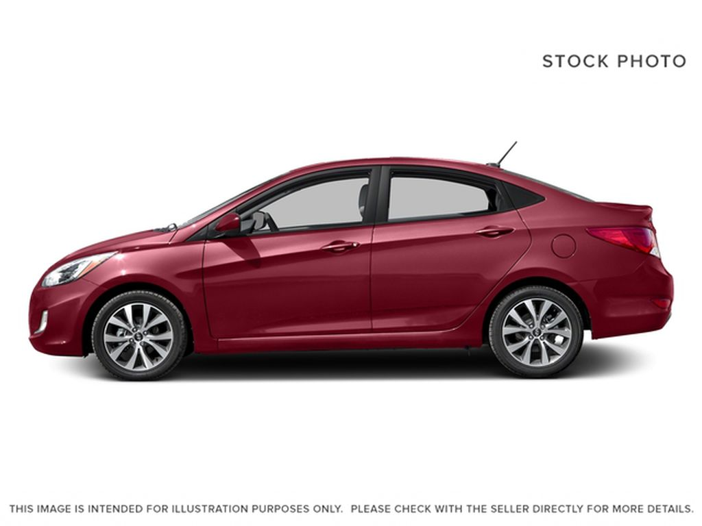 Red[Boston Red Metallic] 2017 Hyundai Accent Left Side Photo in Dartmouth NS