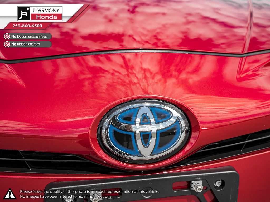 Red [Hypersonic Red] 2017 Toyota Prius Rear of Vehicle Photo in Kelowna BC