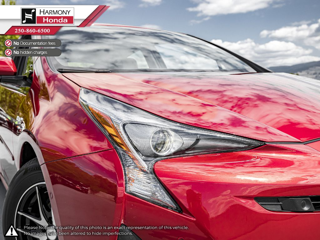 Red [Hypersonic Red] 2017 Toyota Prius Right Rear Corner Photo in Kelowna BC