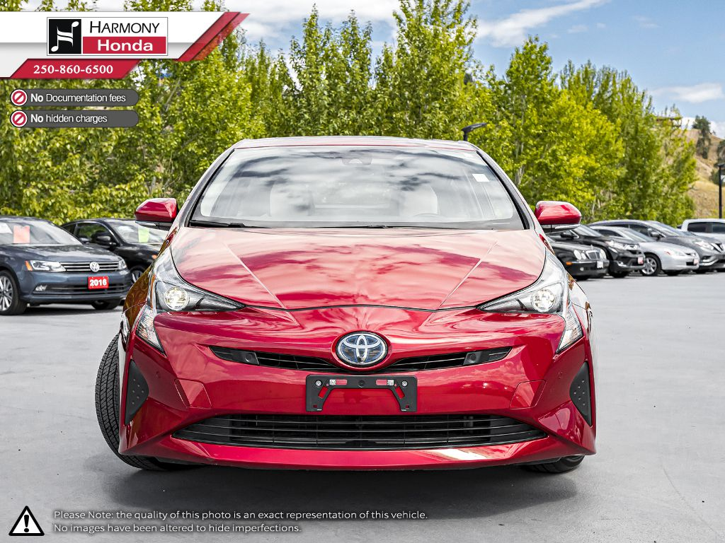 Red [Hypersonic Red] 2017 Toyota Prius Left Front Interior Photo in Kelowna BC