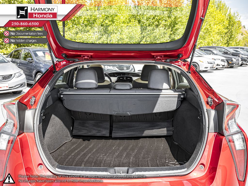Red [Hypersonic Red] 2017 Toyota Prius Fourth Row  Seat  Photo in Kelowna BC
