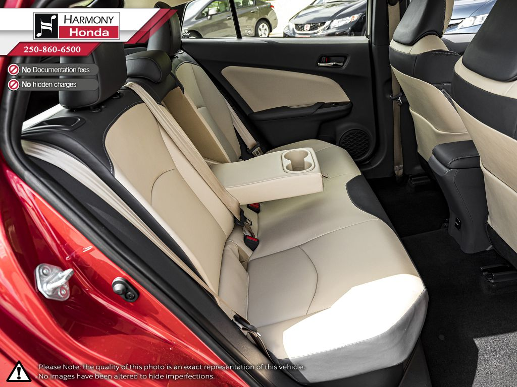 Red [Hypersonic Red] 2017 Toyota Prius Left Front Seat Photo in Kelowna BC