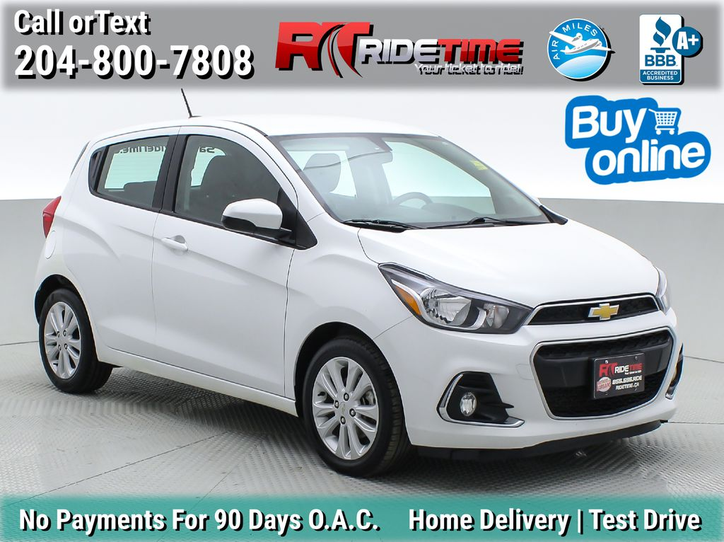 White[Summit White] 2017 Chevrolet Spark LT - Automatic, Backup Camera, Bluetooth