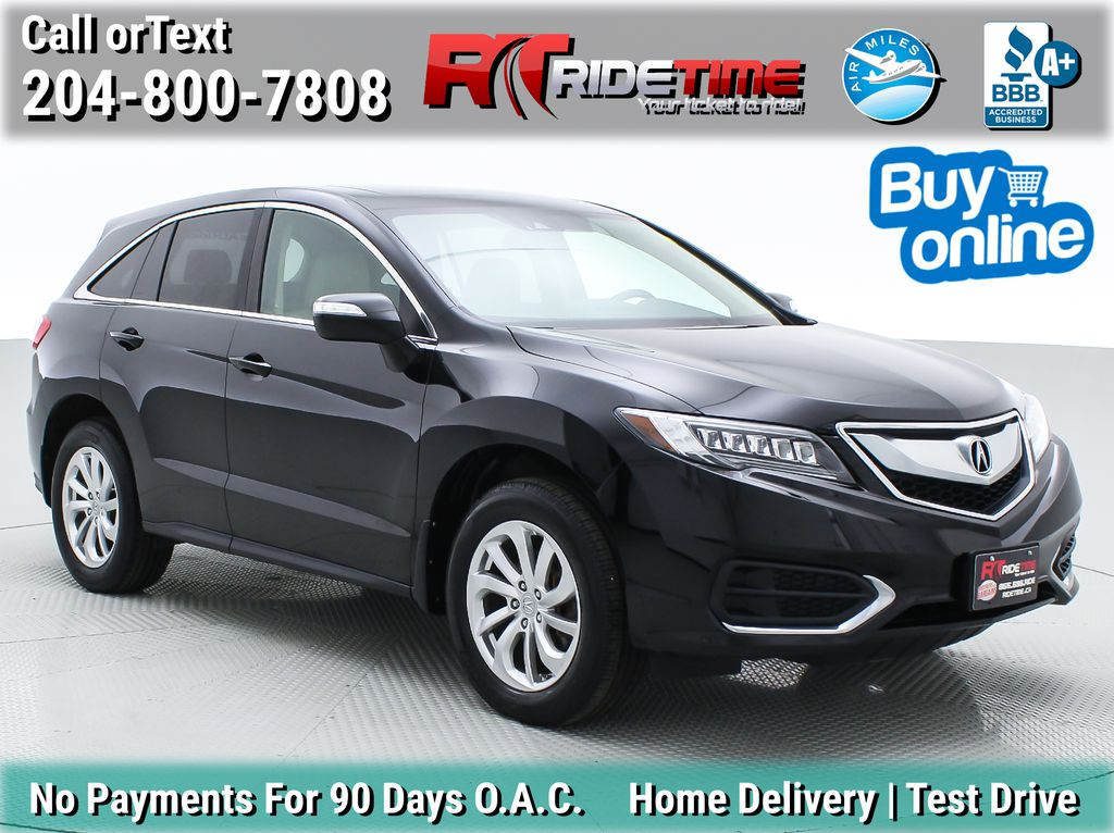 Black[Crystal Black Pearl] 2017 Acura RDX Tech AWD - Navigation, Leather, Bluetooth, Sunroof