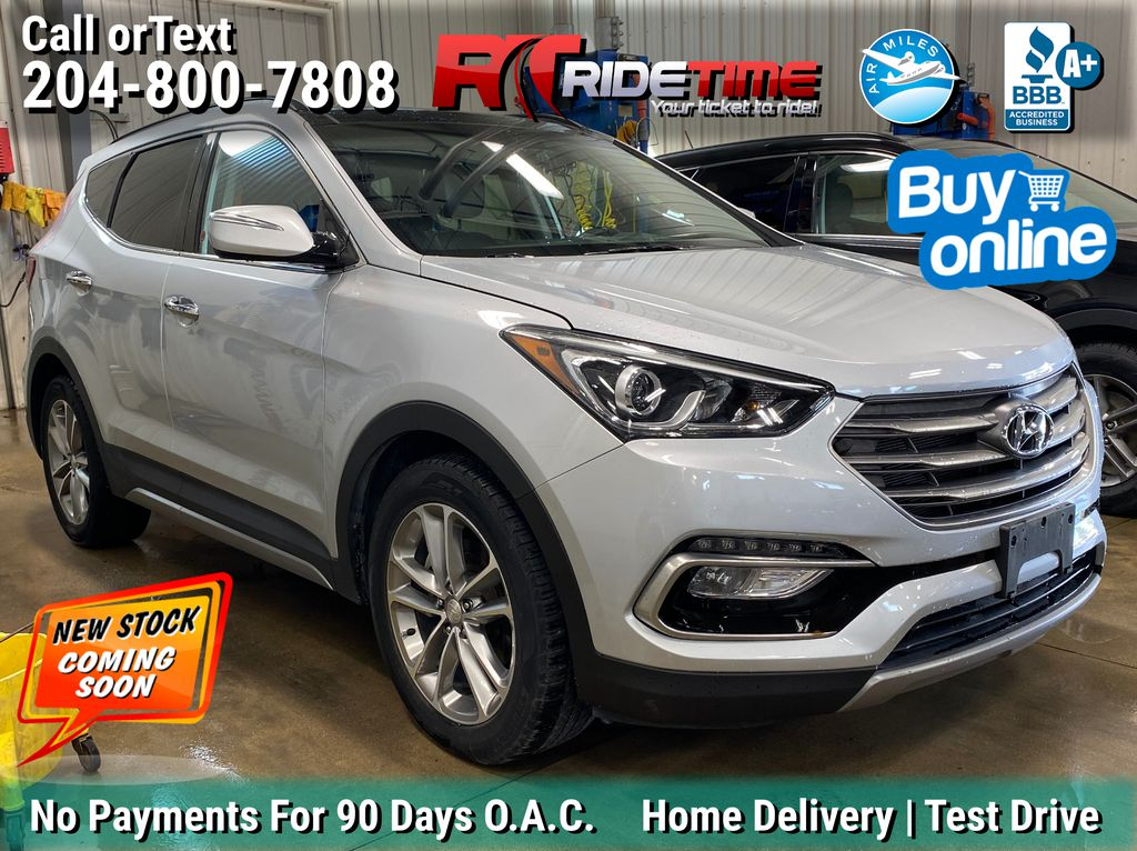 Silver[Titanium Silver] 2017 Hyundai Santa Fe Sport Limited AWD - Leather, NAV, Panoramic Roof