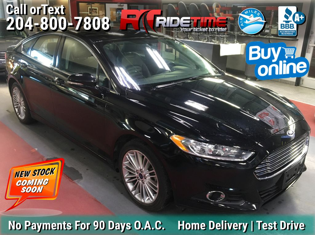 Black[Shadow Black] 2016 Ford Fusion SE AWD - Leather, Navigation, Heated Seats, Bluetooth