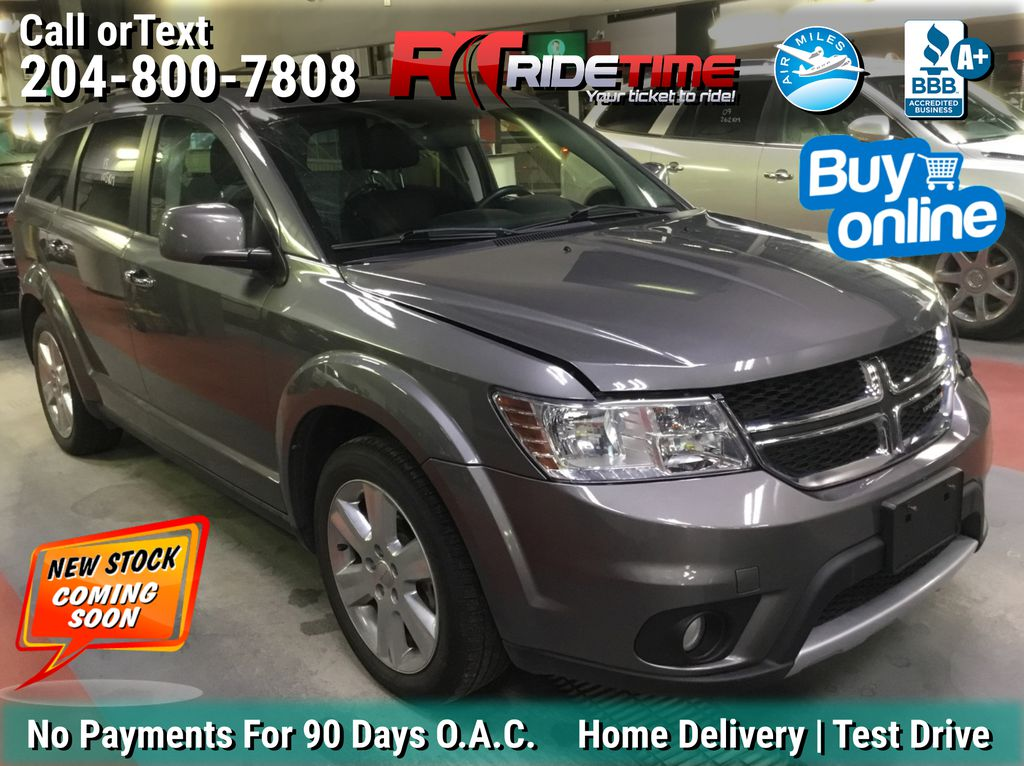 Gray[Storm Grey Pearl] 2013 Dodge Journey R/T AWD - 7 Passenger, DVD, Navigation, Sunroof