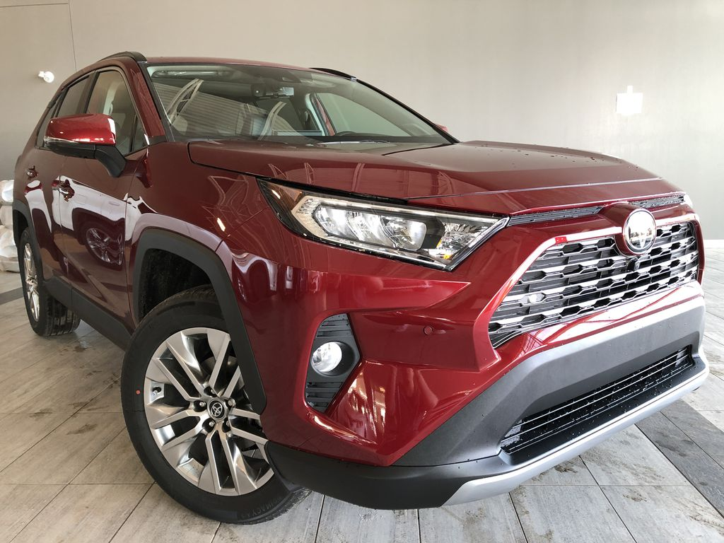 Ruby Flare Pearl 2020 Toyota RAV4 Limited Left Front Interior Photo in Edmonton AB