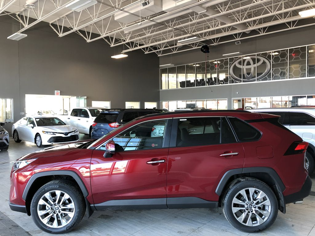Ruby Flare Pearl 2020 Toyota RAV4 Limited Left Side Photo in Edmonton AB