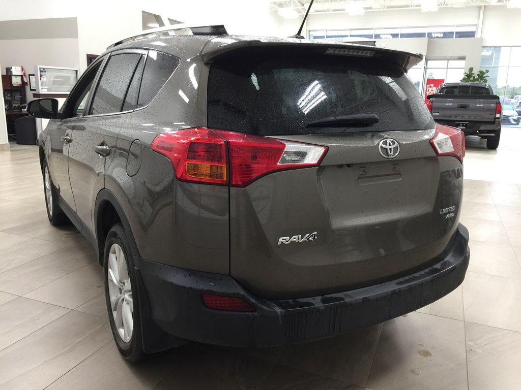 Gray[Pyrite Mica] 2014 Toyota RAV4 Limited Left Rear Corner Photo in Sherwood Park AB