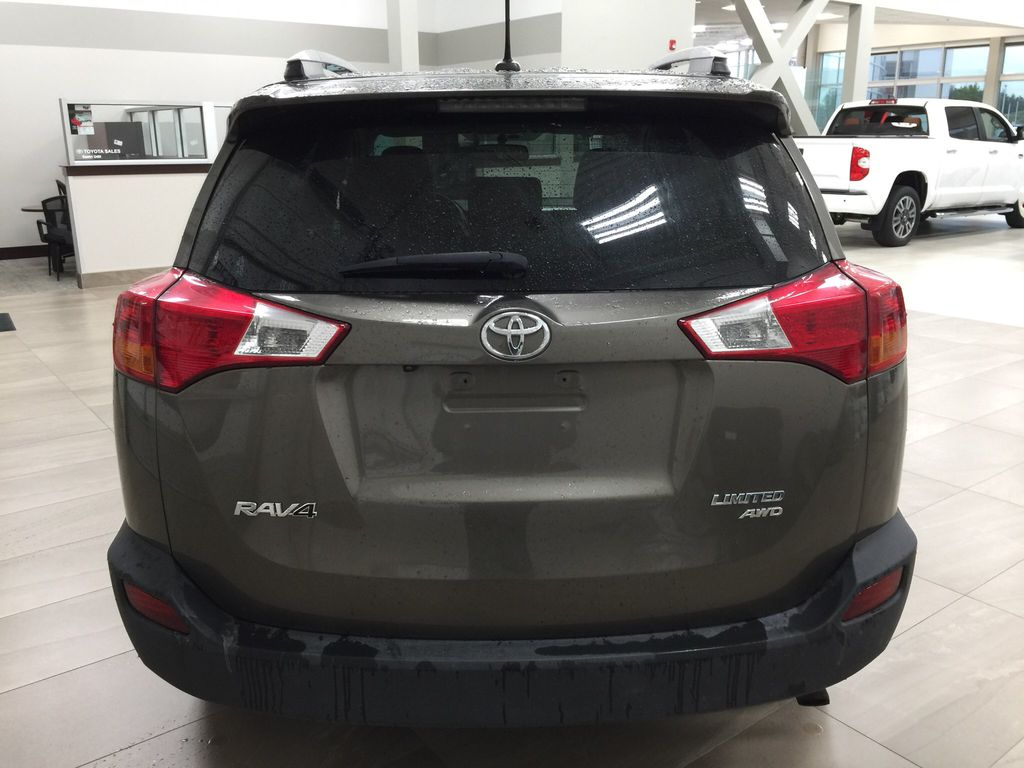 Gray[Pyrite Mica] 2014 Toyota RAV4 Limited Rear of Vehicle Photo in Sherwood Park AB