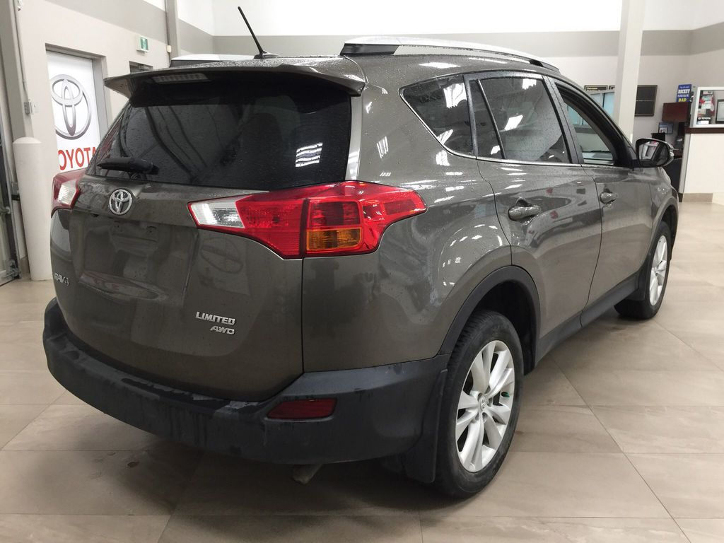 Gray[Pyrite Mica] 2014 Toyota RAV4 Limited Right Rear Corner Photo in Sherwood Park AB
