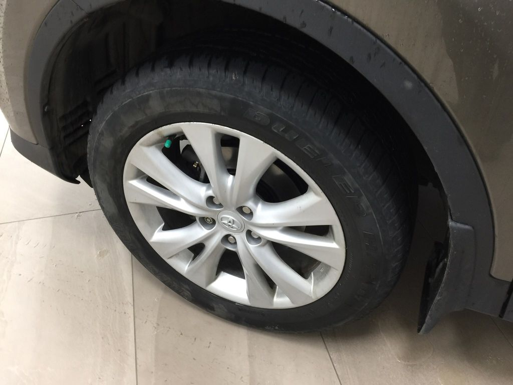 Gray[Pyrite Mica] 2014 Toyota RAV4 Limited Left Front Rim and Tire Photo in Sherwood Park AB
