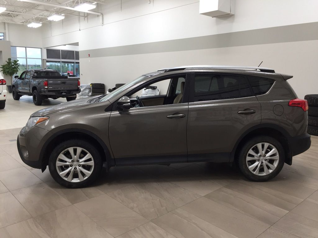 Gray[Pyrite Mica] 2014 Toyota RAV4 Limited Left Side Photo in Sherwood Park AB