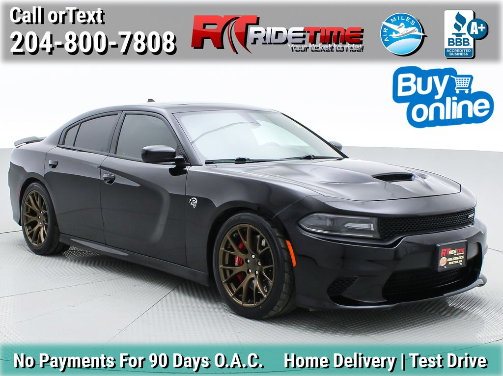 Black[Pitch Black] 2016 Dodge Charger SRT Hellcat - 6.2L Supercharged HEMI, Sunroof