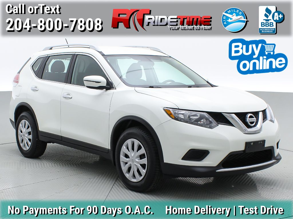 White[Glacier White] 2016 Nissan Rogue S AWD - Backup Camera, Bluetooth, Satellite Radio