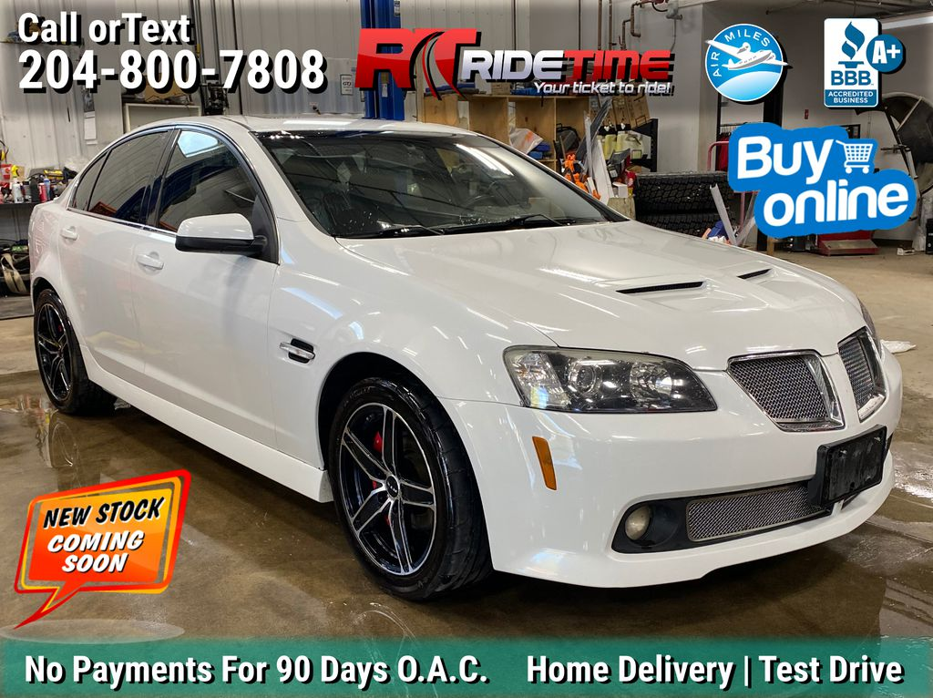 White[White Hot] 2009 Pontiac G8 Base - Leather, Sunroof, Heated Seats and LOW KMs