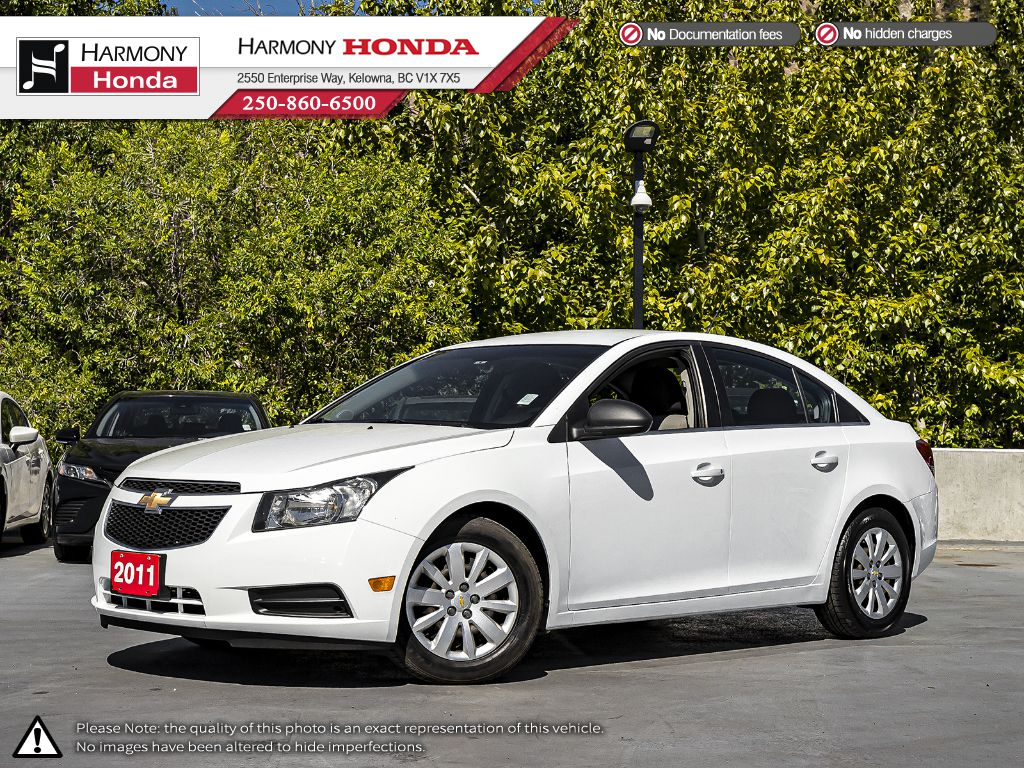 Pre-Owned 2011 Chevrolet Cruze LS - BC VEHICLE - ONE OWNER - NON SMOKER - LOW KM - LOCAL DRIVEN - WELL SERVICED