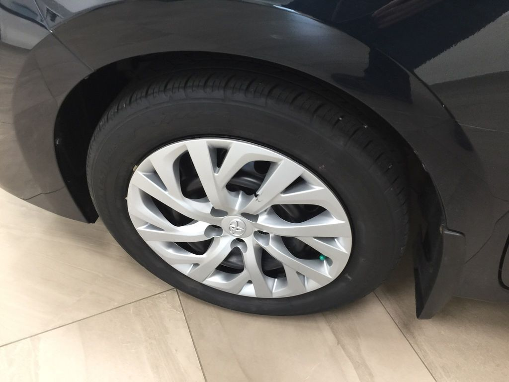 Blue[Galactic Aqua Mica] 2017 Toyota Corolla LE Left Front Rim and Tire Photo in Sherwood Park AB