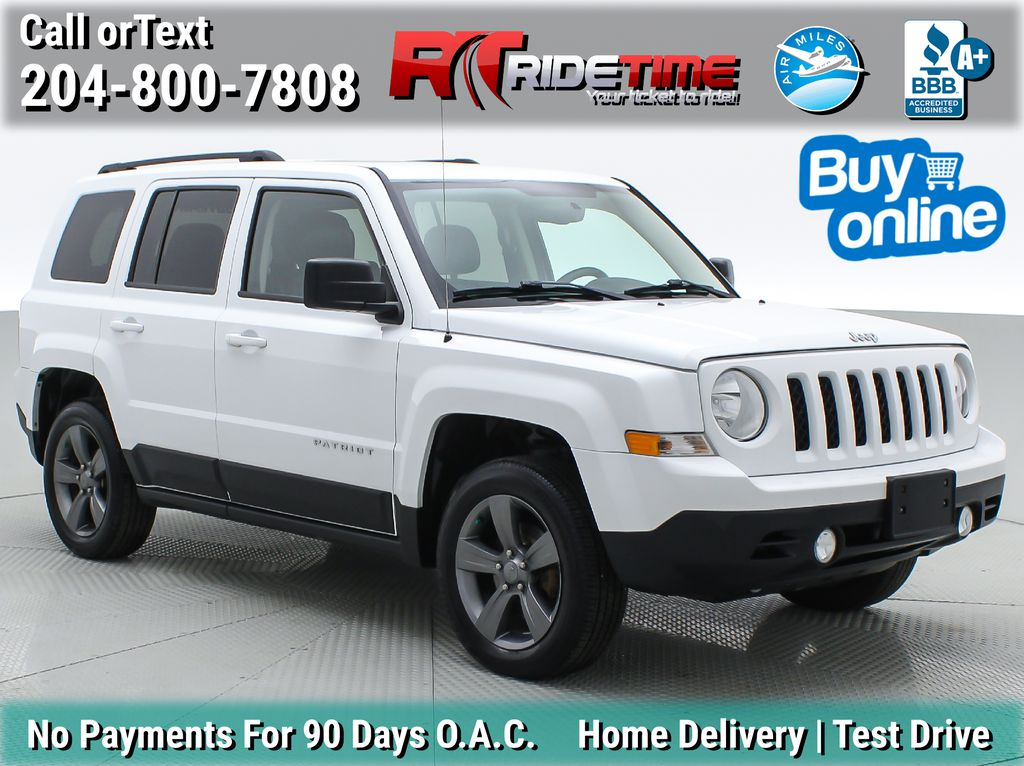 White[Bright White] 2015 Jeep Patriot High Altitude 4WD - Leather, Sunroof, Uconnect