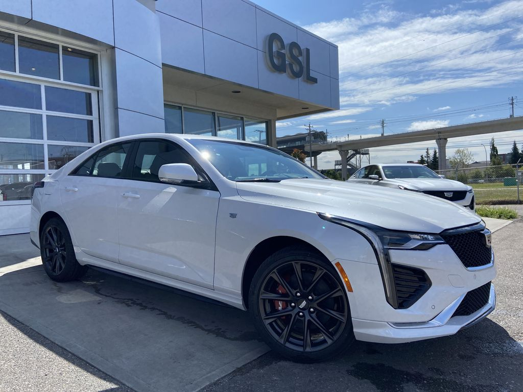 White[Crystal White Tricoat] 2020 Cadillac CT4 Sport