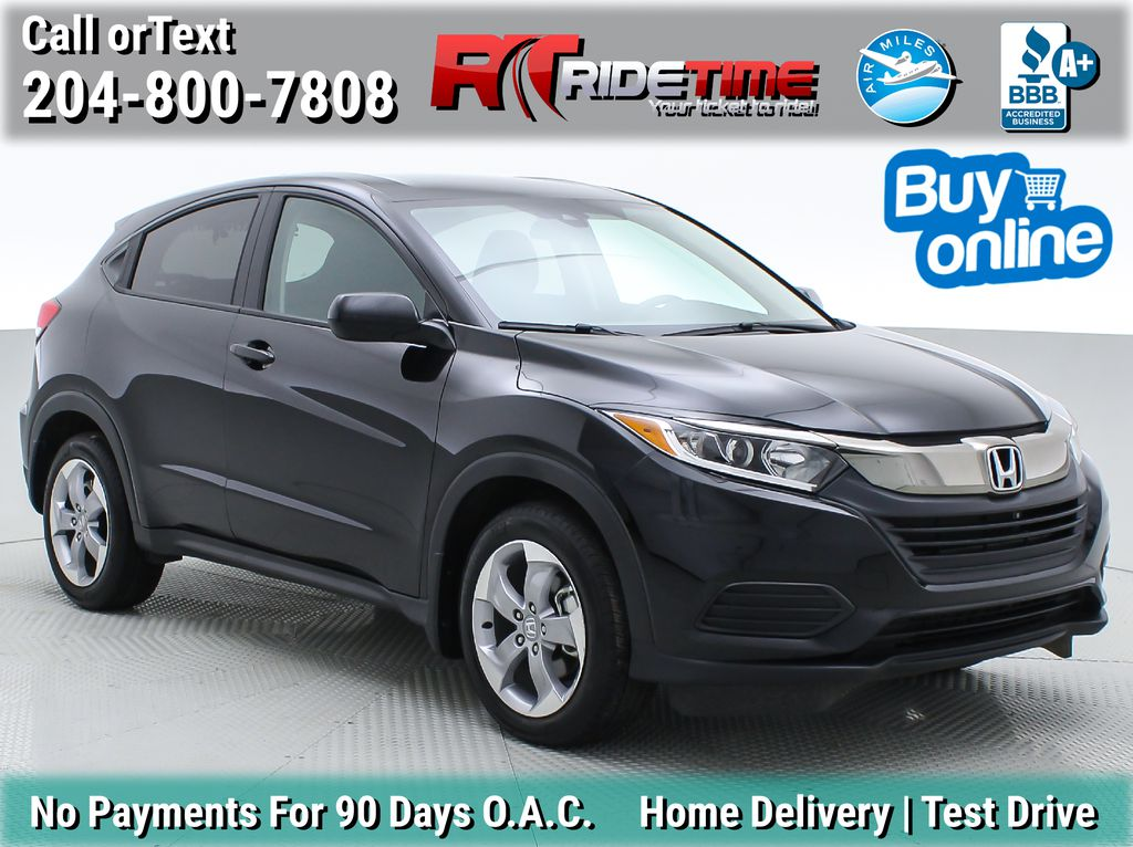 Black[Crystal Black Pearl] 2019 Honda HR-V LX AWD - 2 Sets Of Wheels, Heated Seats, Backup Cam