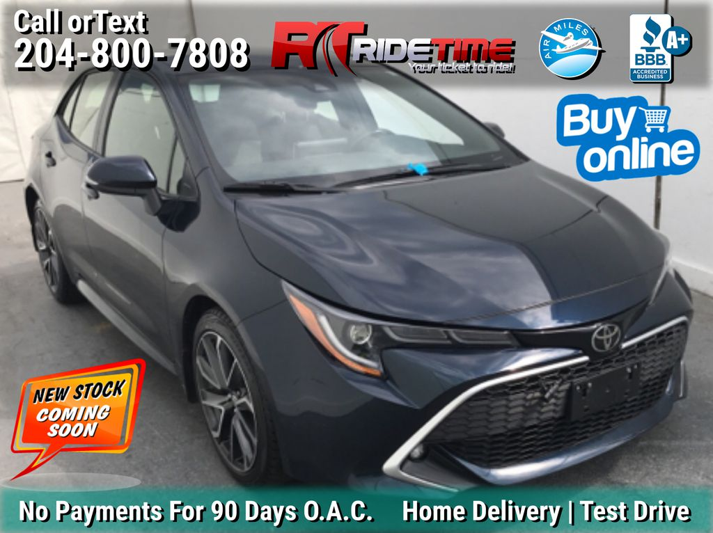 Blue[Blue Flame] 2019 Toyota Corolla XSE Hatchback - Leather, Navigation, Bluetooth