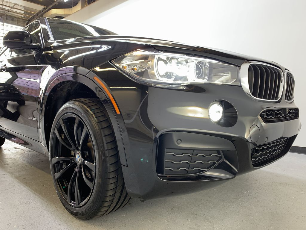 BLACK 2018 BMW X6 xDrive35i Sports Activity Coupe -  NAV, Red Leather, Memory Seat Right Front Corner Photo in Edmonton AB